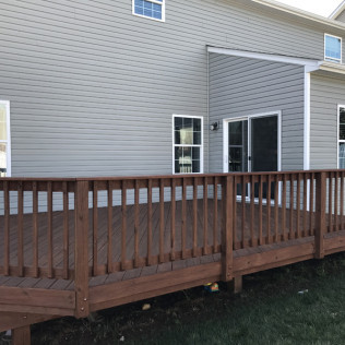 Concord Deck in Canyon Brown Oil-Based Stain