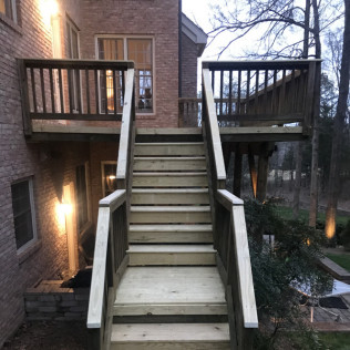 Huntersville Re-Deck With New Boards on Old Structure