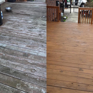 Before and After Mooresville-Deck-in Toast Oil Based Stain