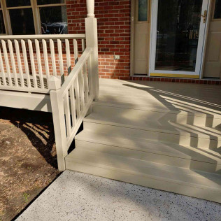 Mooresville Deck in Custom Match Solid Stain